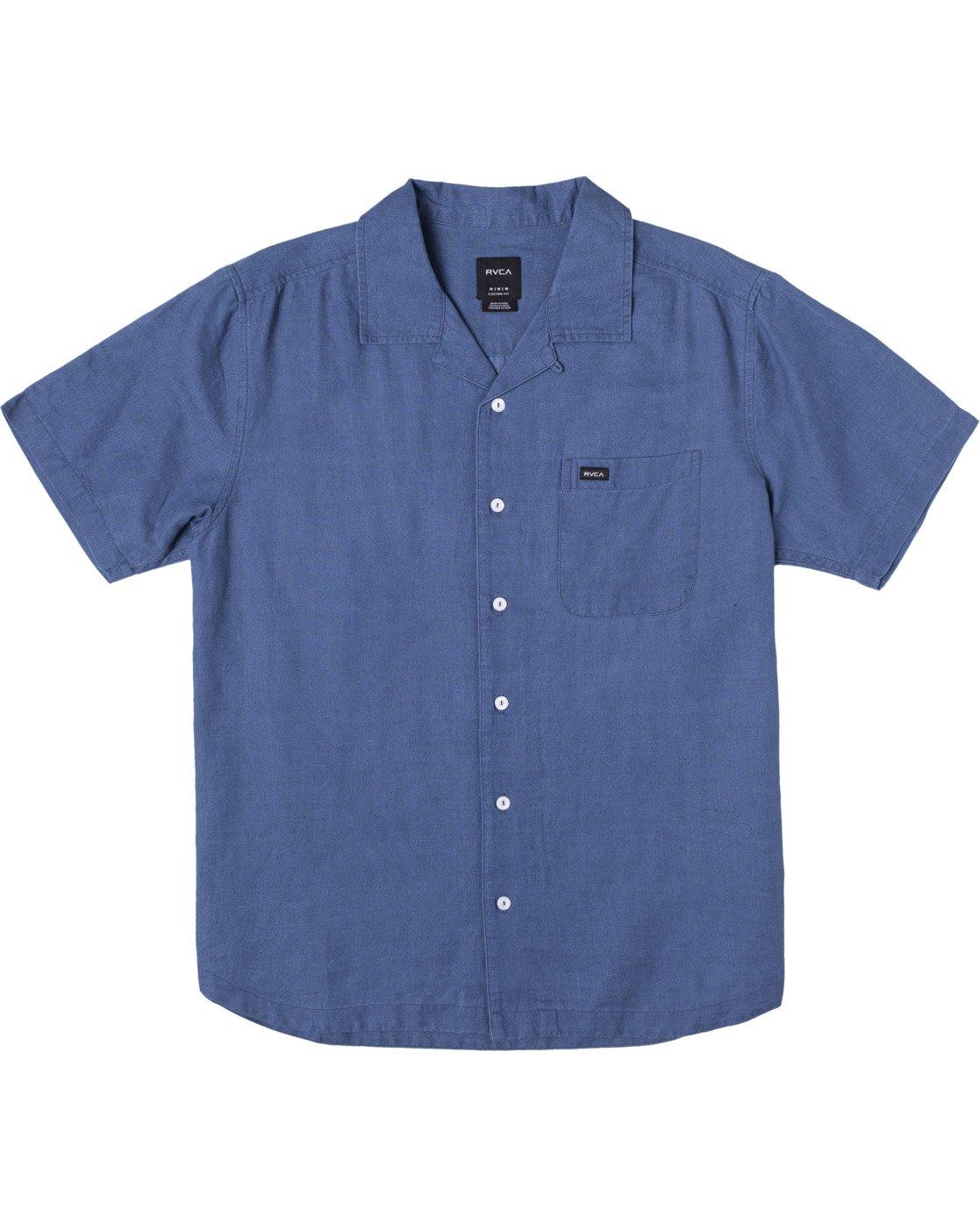 1 HEMP BEAT SHORT SLEEVE SHIRT Blue AVYWT00172 RVCA