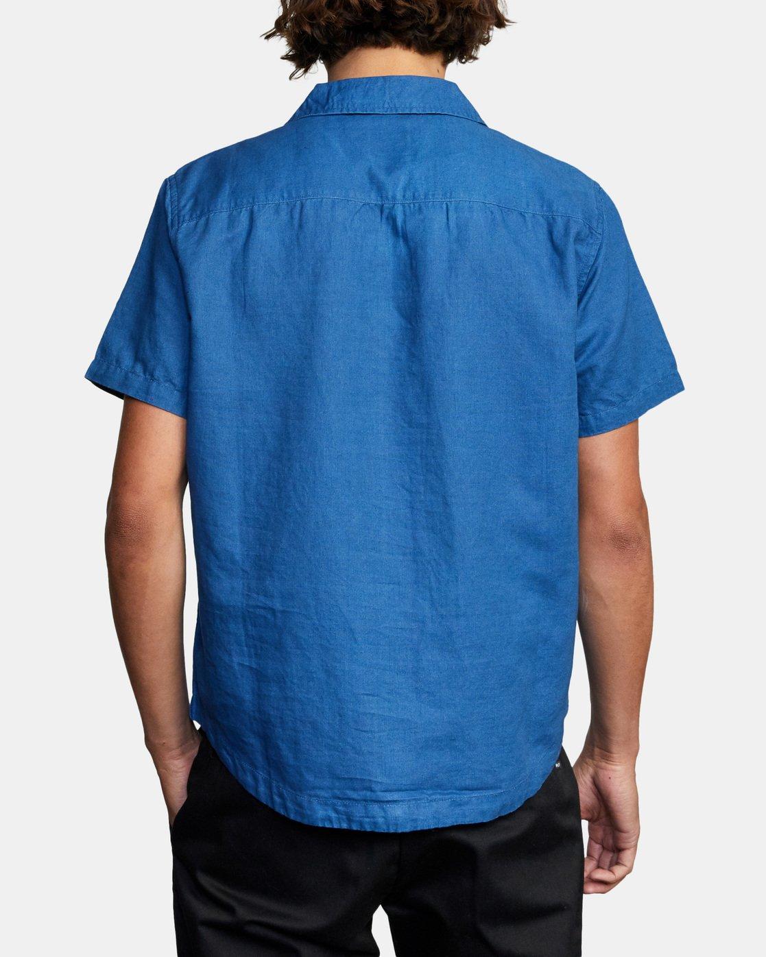 3 HEMP BEAT SHORT SLEEVE SHIRT Blue AVYWT00172 RVCA