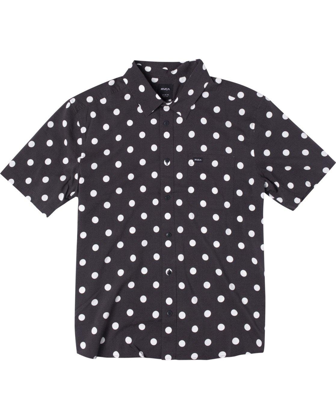 0 Whitworth Short Sleeve Shirt Black AVYWT00192 RVCA