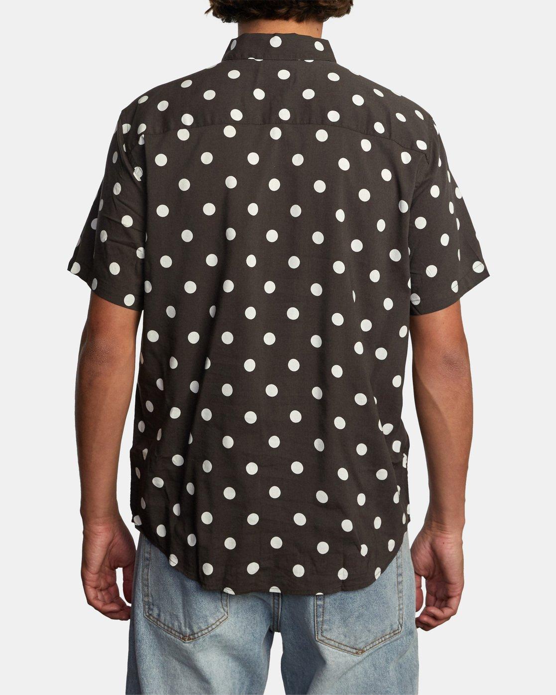 2 Whitworth Short Sleeve Shirt Black AVYWT00192 RVCA