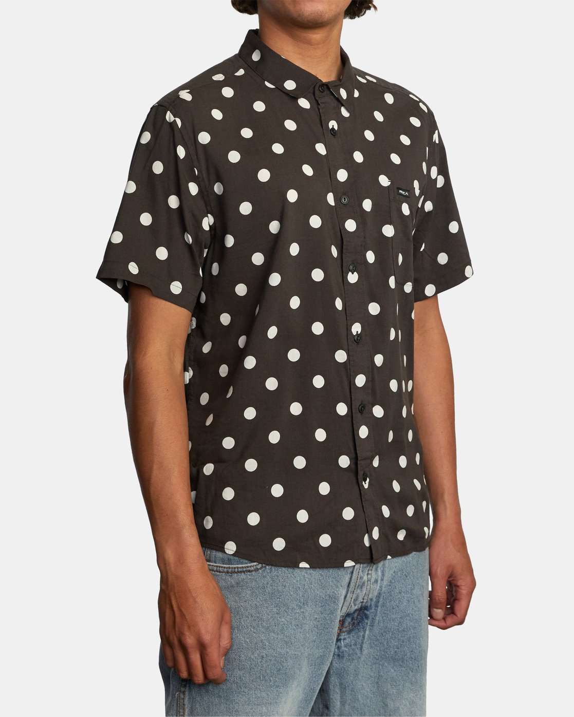 4 Whitworth Short Sleeve Shirt Black AVYWT00192 RVCA