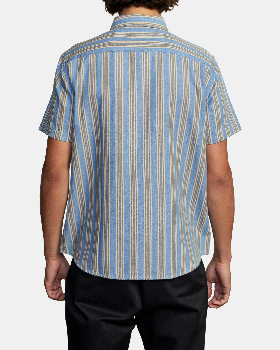 2 Harbour Stripe Short Sleeve Shirt Brown AVYWT00195 RVCA