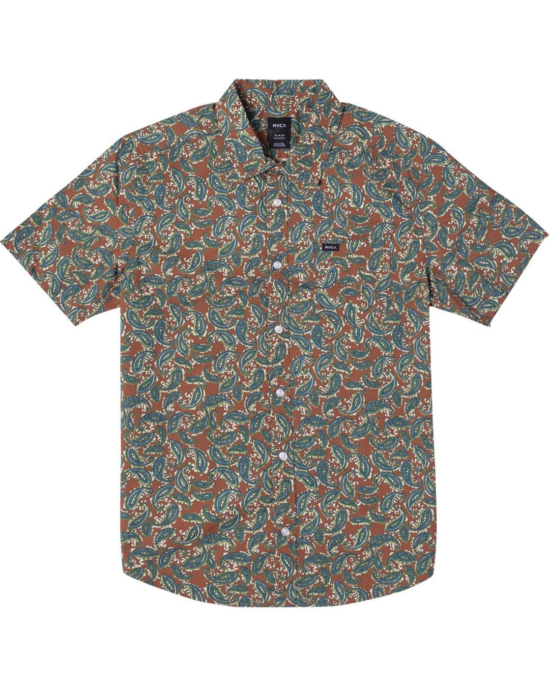 0 Mind Flower Paisley Short Sleeve Shirt Brown AVYWT00199 RVCA