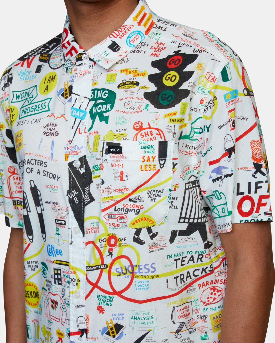 4 Espo Short Sleeve Shirt White AVYWT00201 RVCA