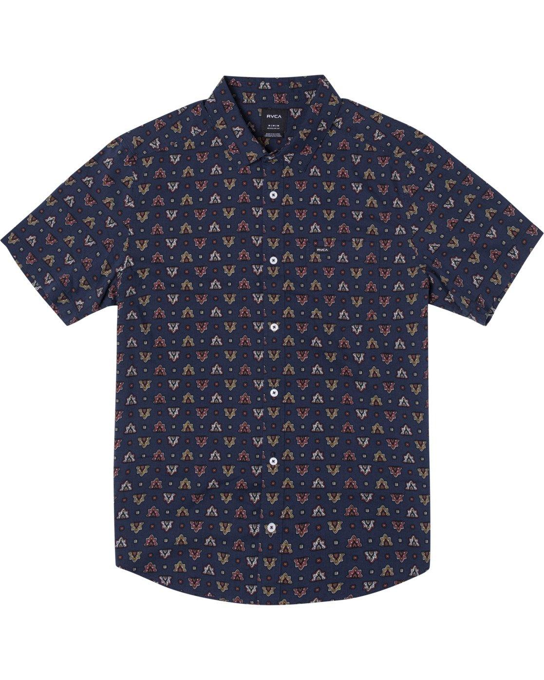 0 La Fleur Short Sleeve Shirt Blue AVYWT00204 RVCA
