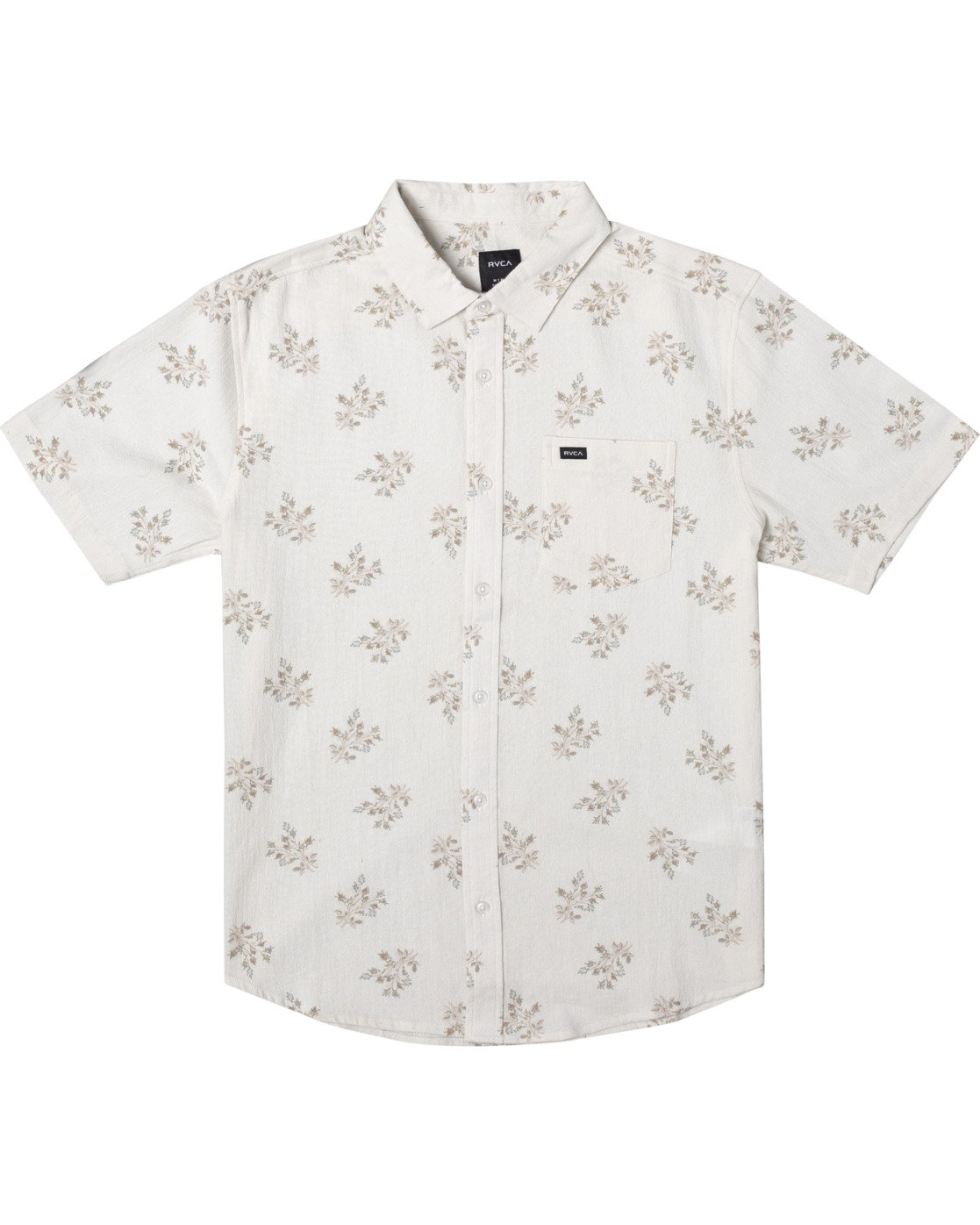 0 Prarie Floral Short Sleeve Shirt White AVYWT00206 RVCA