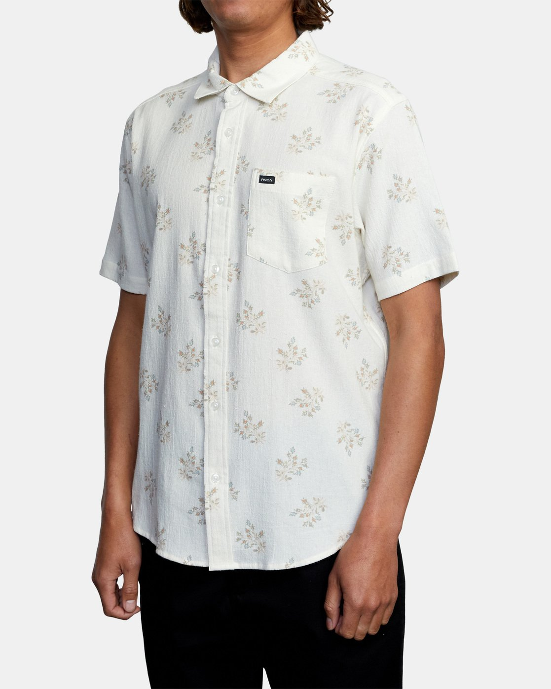 3 Prarie Floral Short Sleeve Shirt White AVYWT00206 RVCA