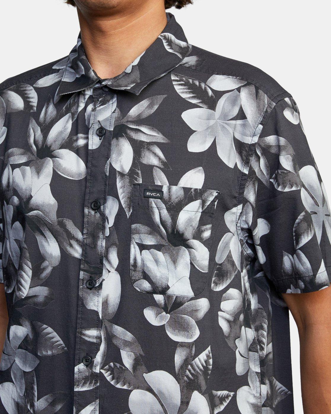 4 Lanai Floral Short Sleeve Shirt Black AVYWT00209 RVCA