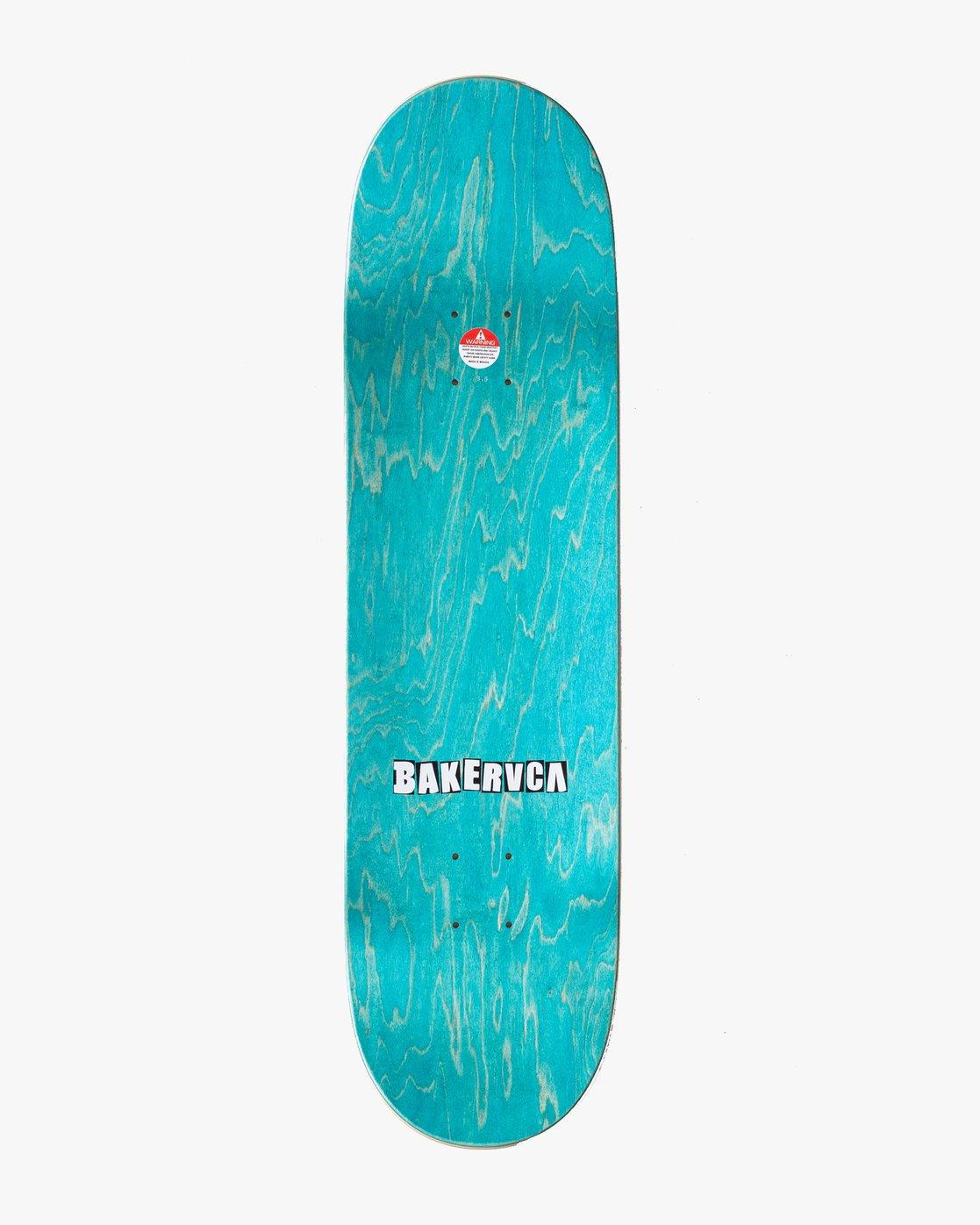 1 ANDREW REYNOLDS BAKERRVCA 8.5 SKATEBOARD DECK Blue AVYXD00102 RVCA