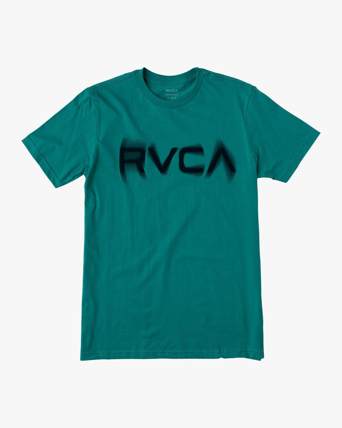 1 BLURS SHORT SLEEVE TEE Blue AVYZT00113 RVCA