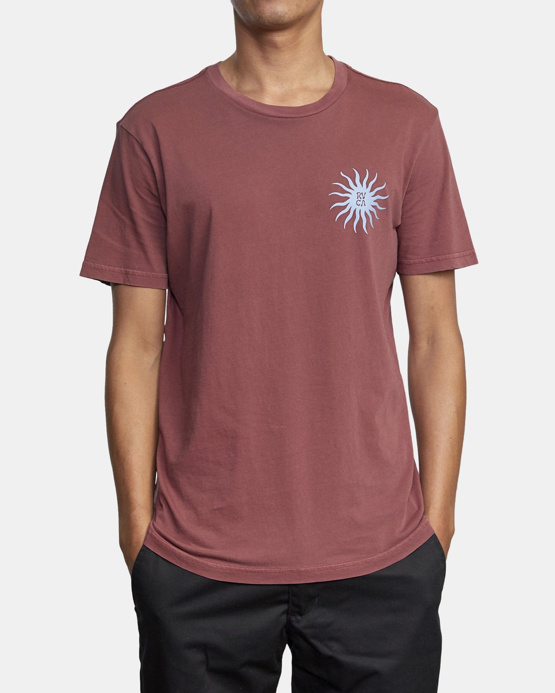 4 SUN SPROUT SHORT SLEEVE TEE Red AVYZT00120 RVCA