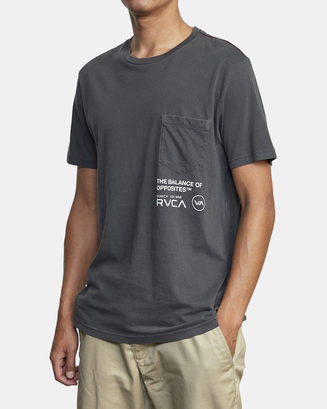 4 TEXTER SHORT SLEEVE TEE Black AVYZT00125 RVCA