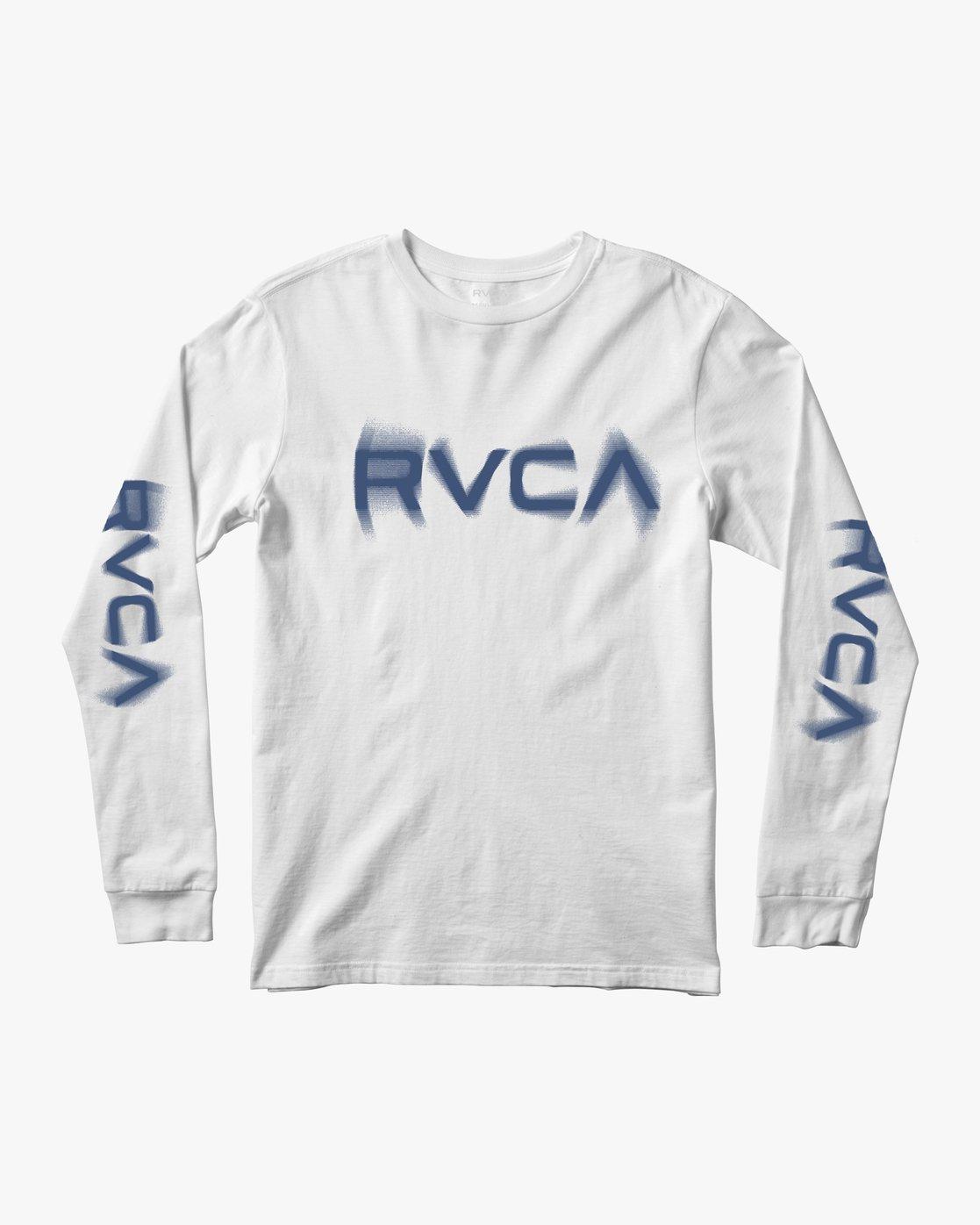 0 BLURS LONG SLEEVE TEE White AVYZT00133 RVCA