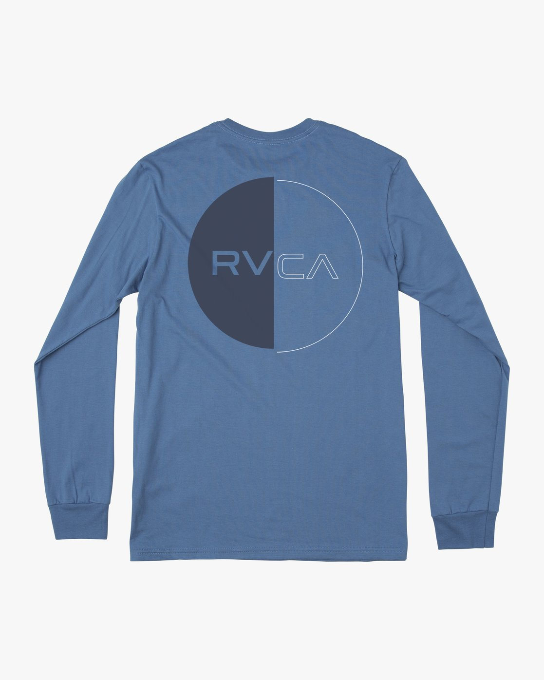 1 DIVIDES LONG SLEEVE TEE Blue AVYZT00134 RVCA