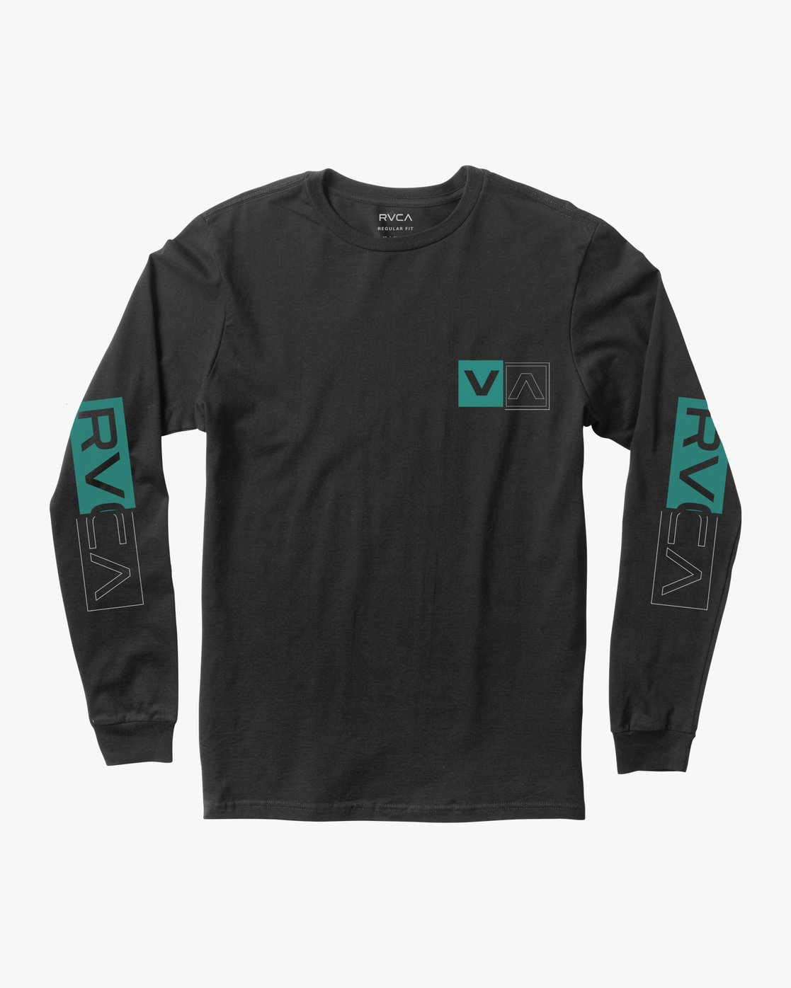 0 DIVIDES LONG SLEEVE TEE Black AVYZT00134 RVCA