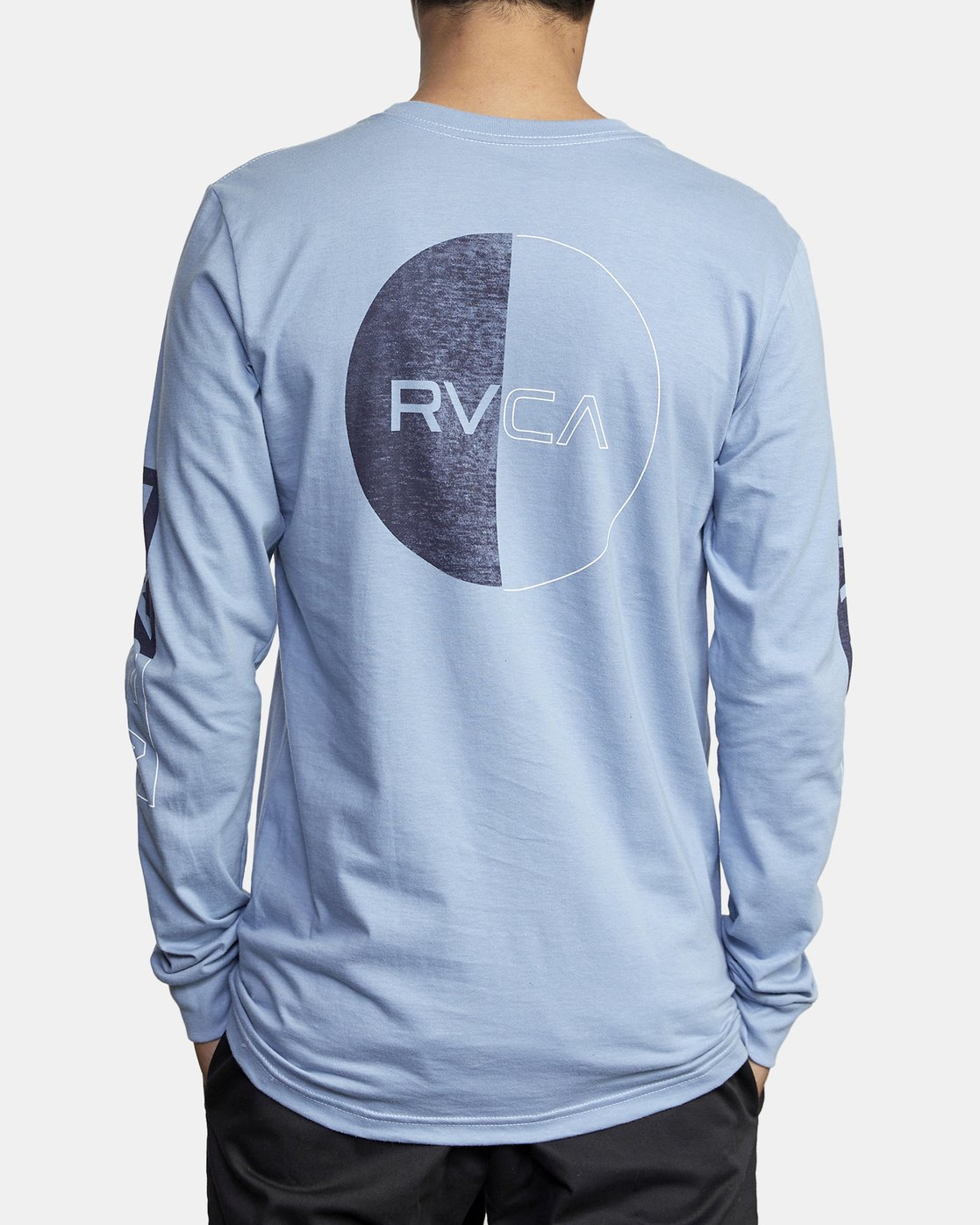 5 DIVIDES LONG SLEEVE TEE Blue AVYZT00134 RVCA