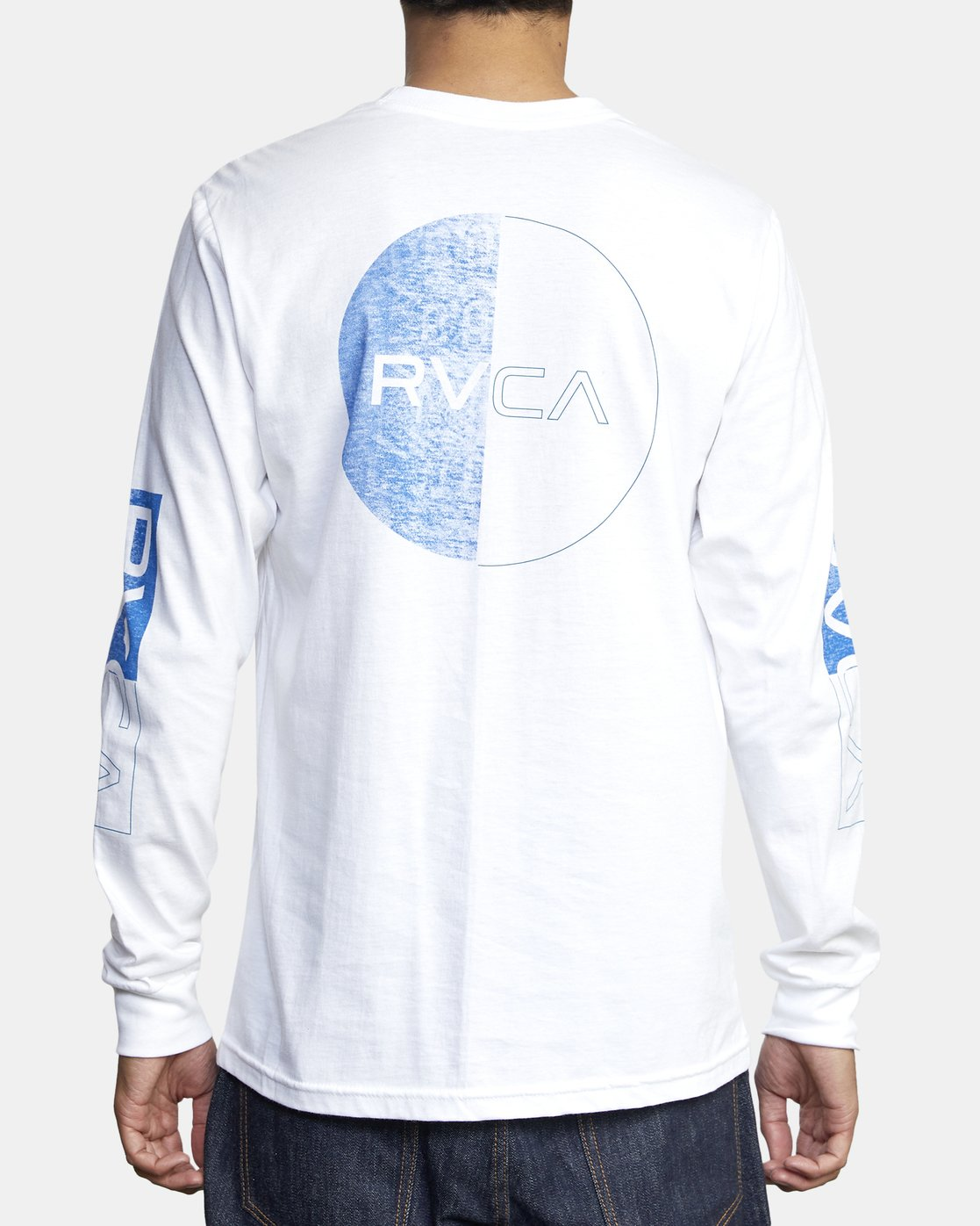 5 DIVIDES LONG SLEEVE TEE White AVYZT00134 RVCA