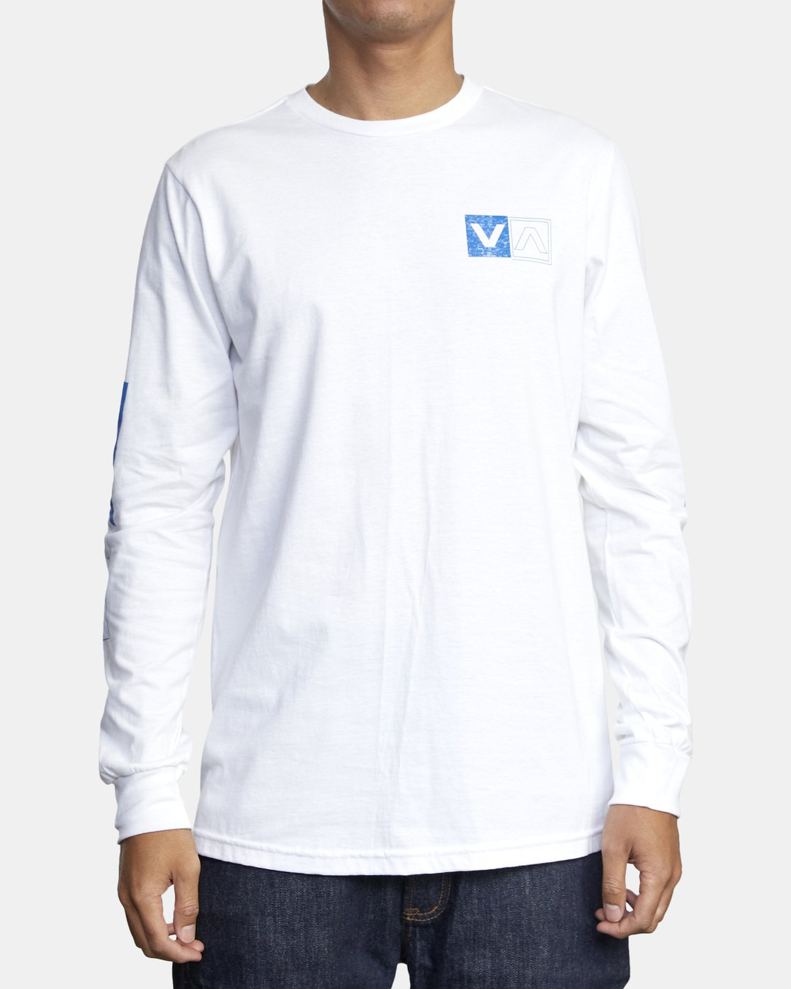 2 DIVIDES LONG SLEEVE TEE White AVYZT00134 RVCA