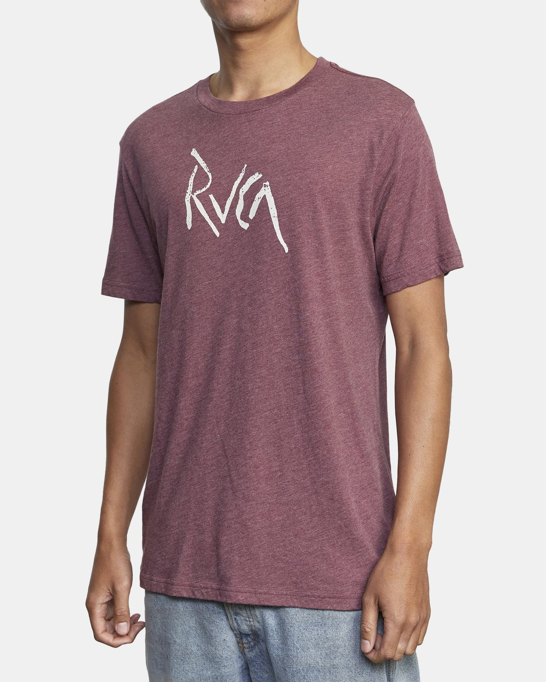 3 SMASHED SHORT SLEEVE TEE Red AVYZT00139 RVCA