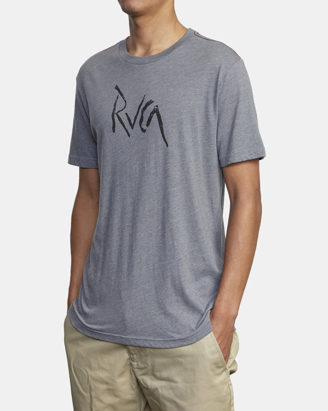 4 SMASHED SHORT SLEEVE TEE Grey AVYZT00139 RVCA