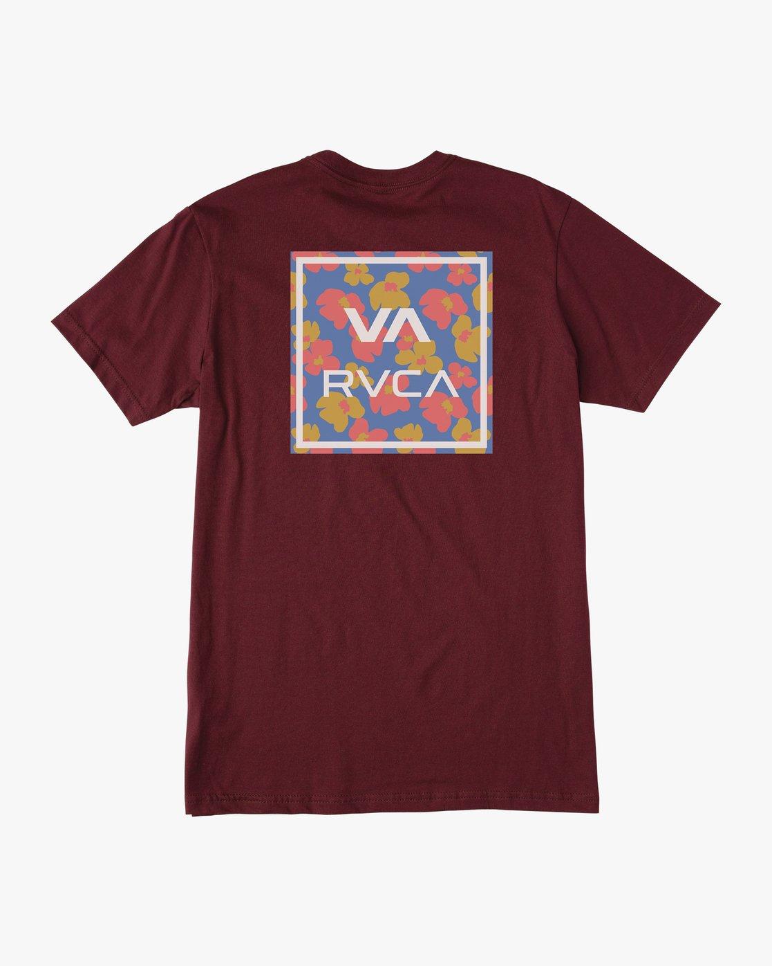 1 VA ALL THE WAY SHORT SLEEVE TEE Red AVYZT00149 RVCA