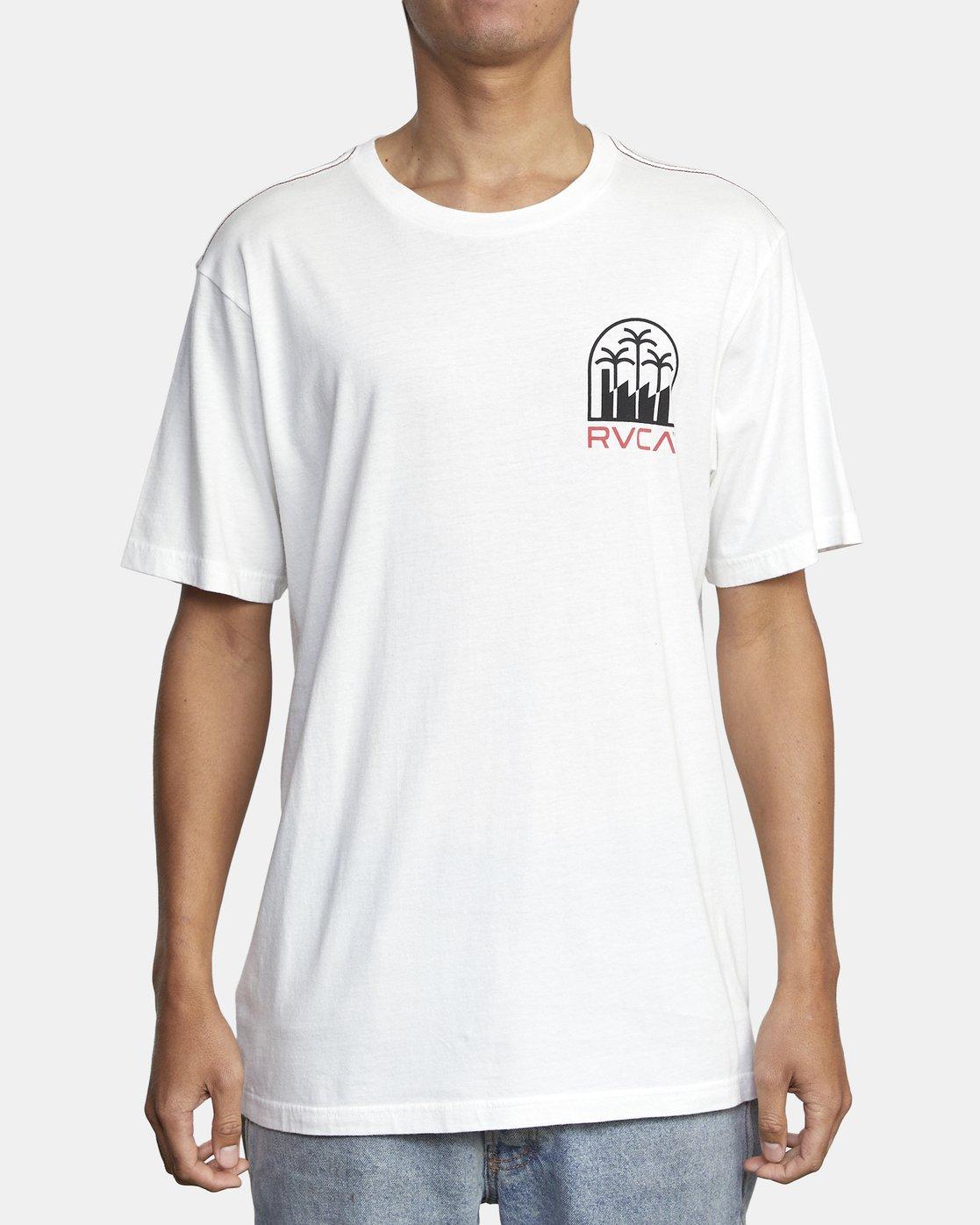 2 DE-SAL SHORT SLEEVE TEE White AVYZT00155 RVCA