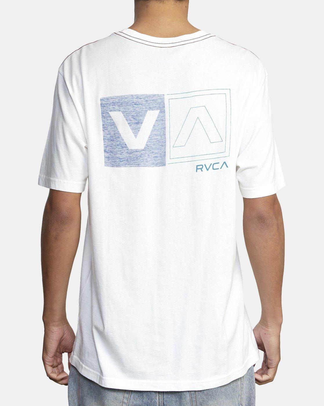 5 DIVIDED SHORT SLEEVE TEE White AVYZT00156 RVCA