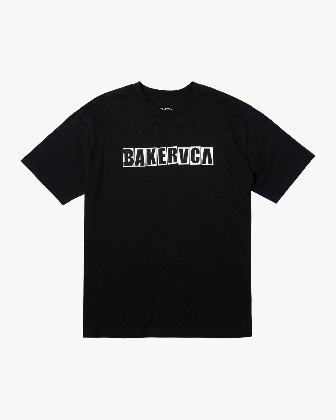 0 BAKERVCA RANSOM SHORT SLEEVE TEE Black AVYZT00162 RVCA