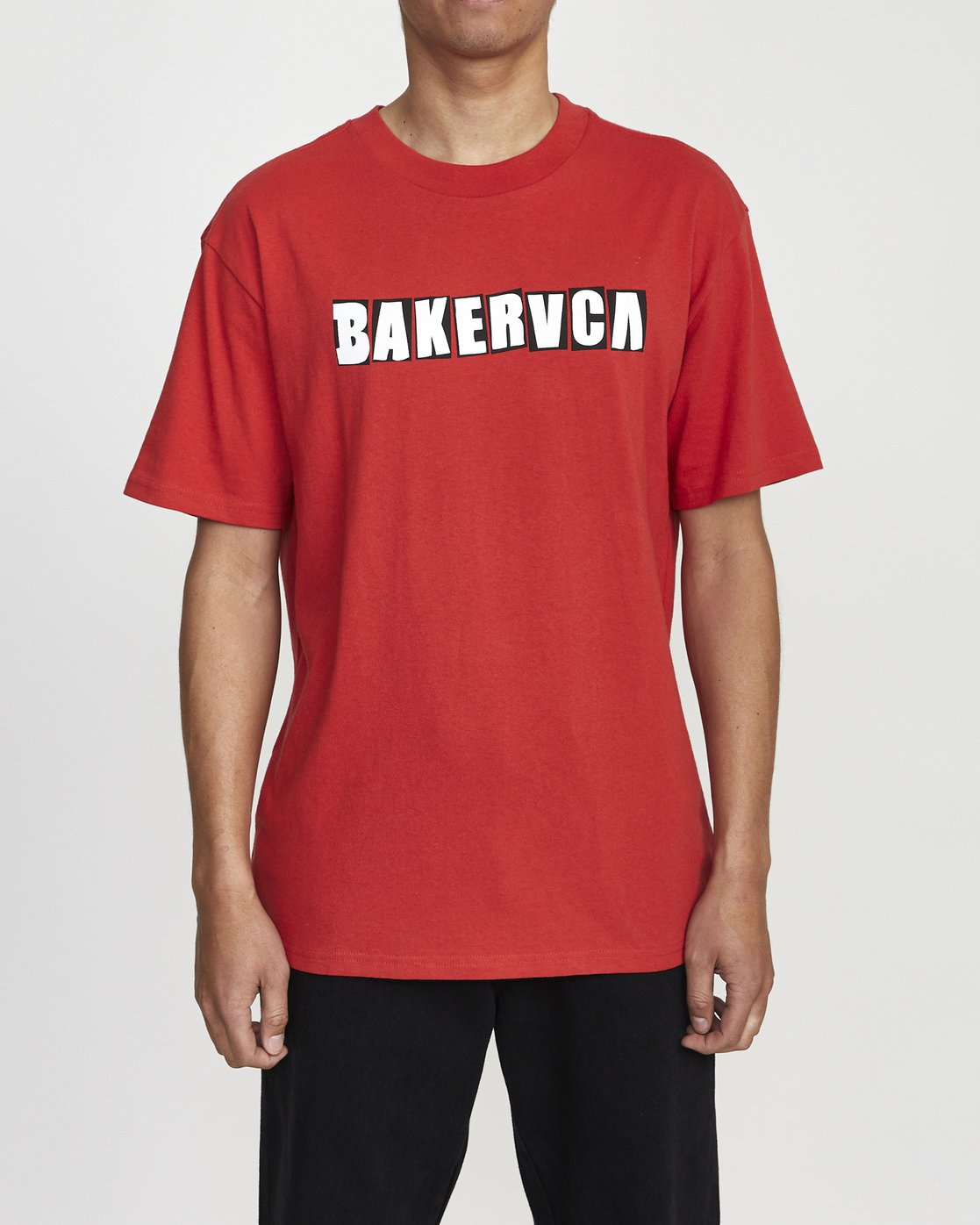 1 BAKERVCA RANSOM SHORT SLEEVE TEE Red AVYZT00162 RVCA