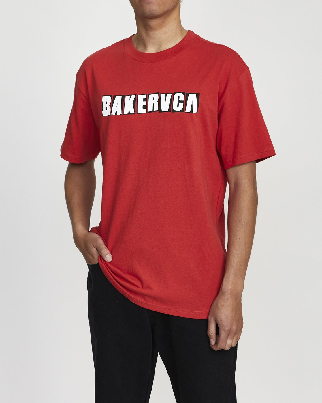 2 BAKERVCA RANSOM SHORT SLEEVE TEE Red AVYZT00162 RVCA