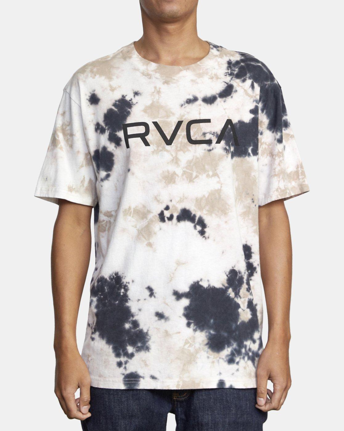 1 BIG RVCA TIE DYE SHORT SLEEVE TEE Grey AVYZT00166 RVCA