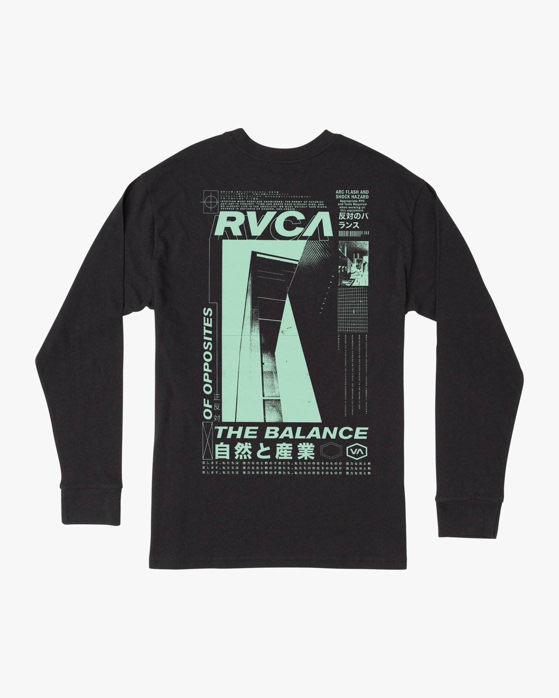 1 FUTURIST LONG SLEEVE TEE Black AVYZT00170 RVCA
