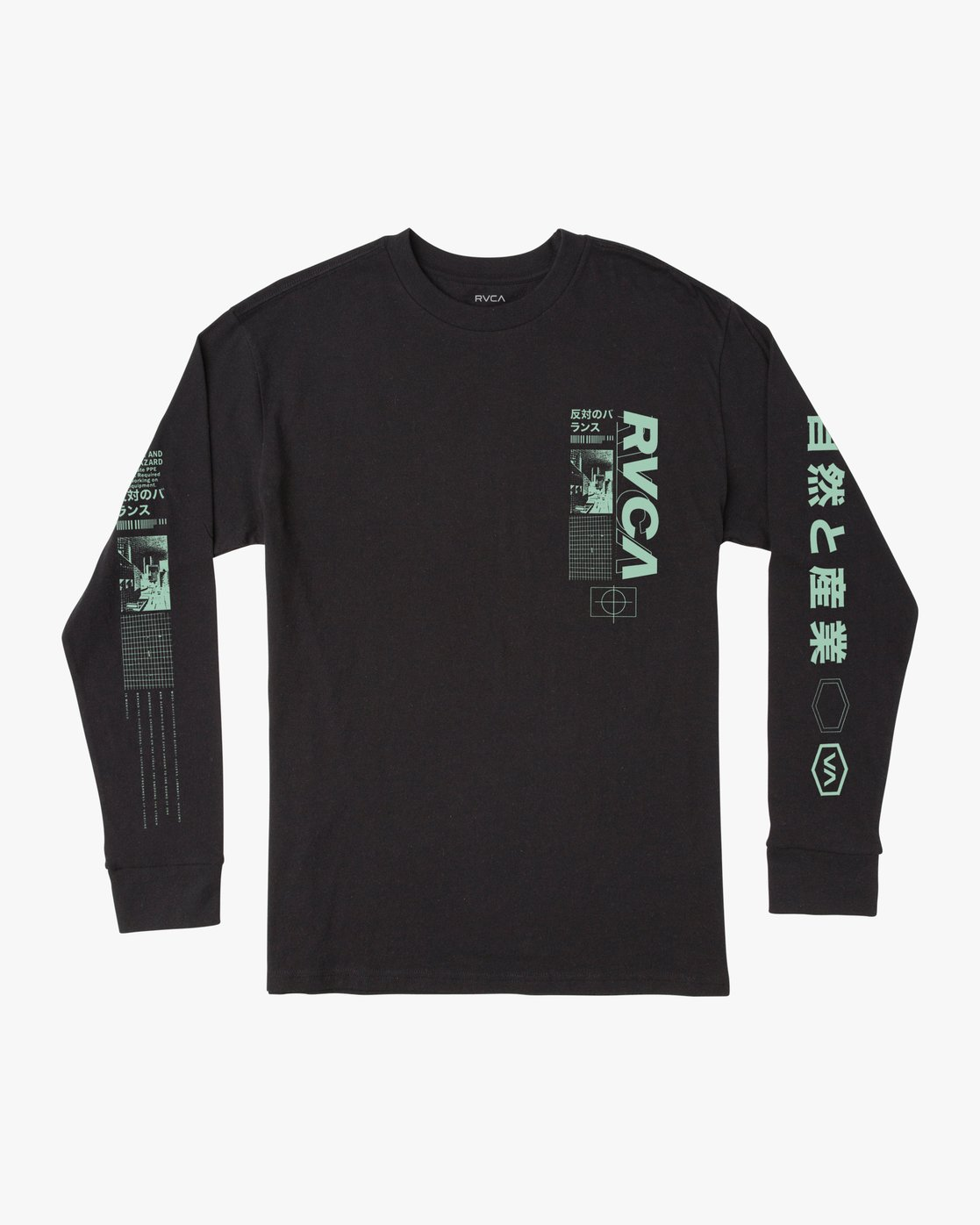 0 FUTURIST LONG SLEEVE TEE Black AVYZT00170 RVCA