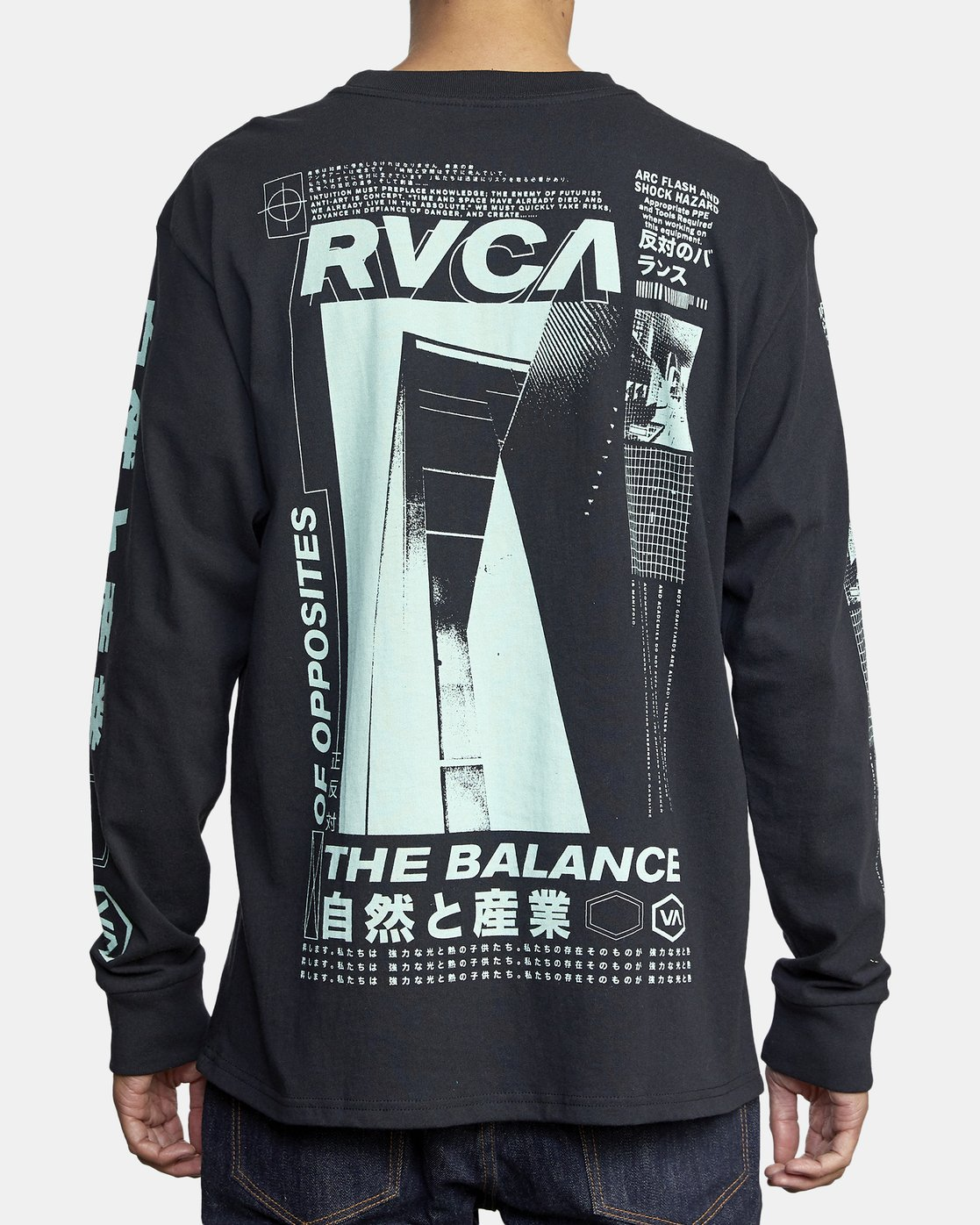 5 FUTURIST LONG SLEEVE TEE Black AVYZT00170 RVCA