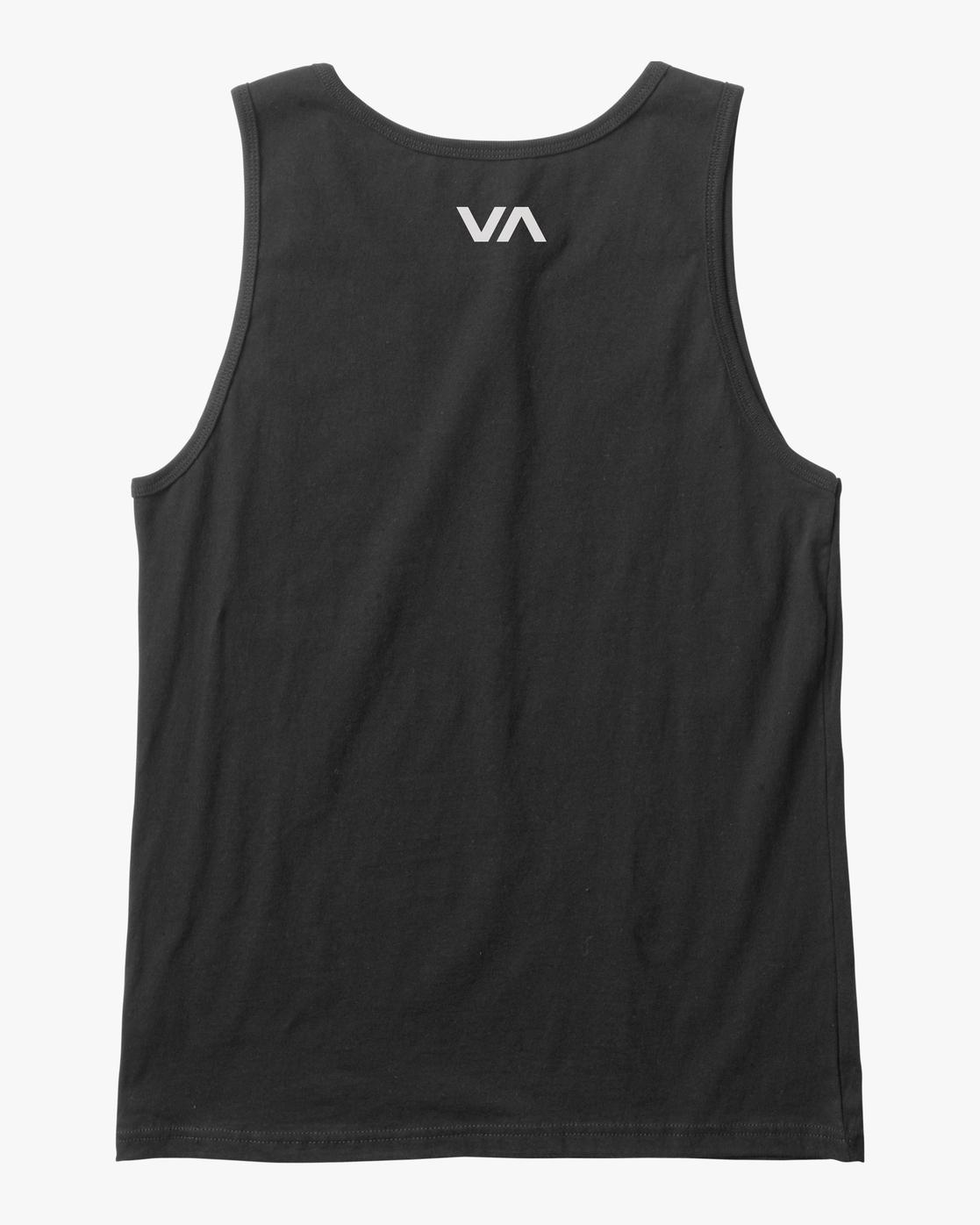 1 VA RVCA BLUR PERFORMANCE TANK TOP Black AVYZT00181 RVCA