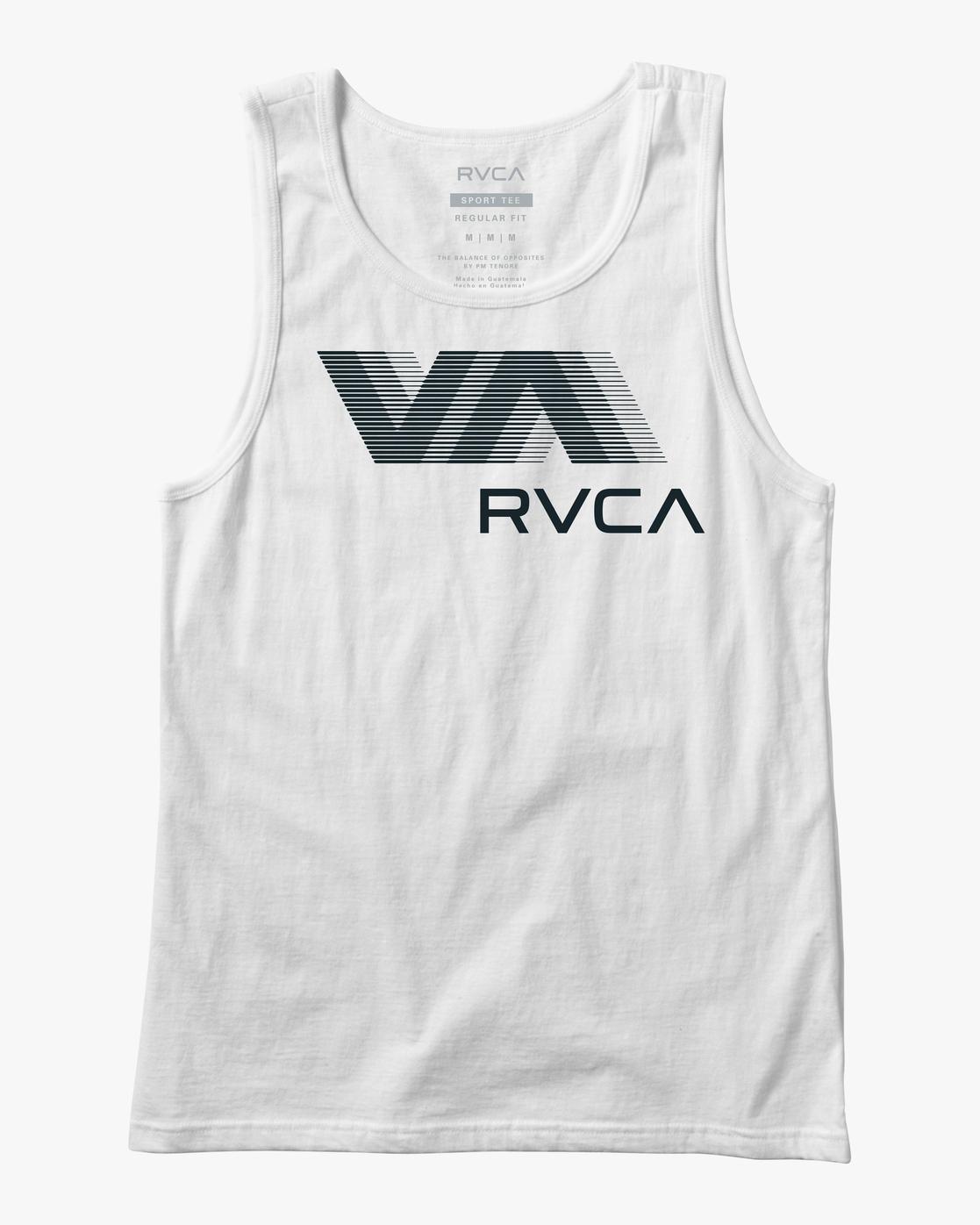0 VA RVCA BLUR PERFORMANCE TANK TOP White AVYZT00181 RVCA