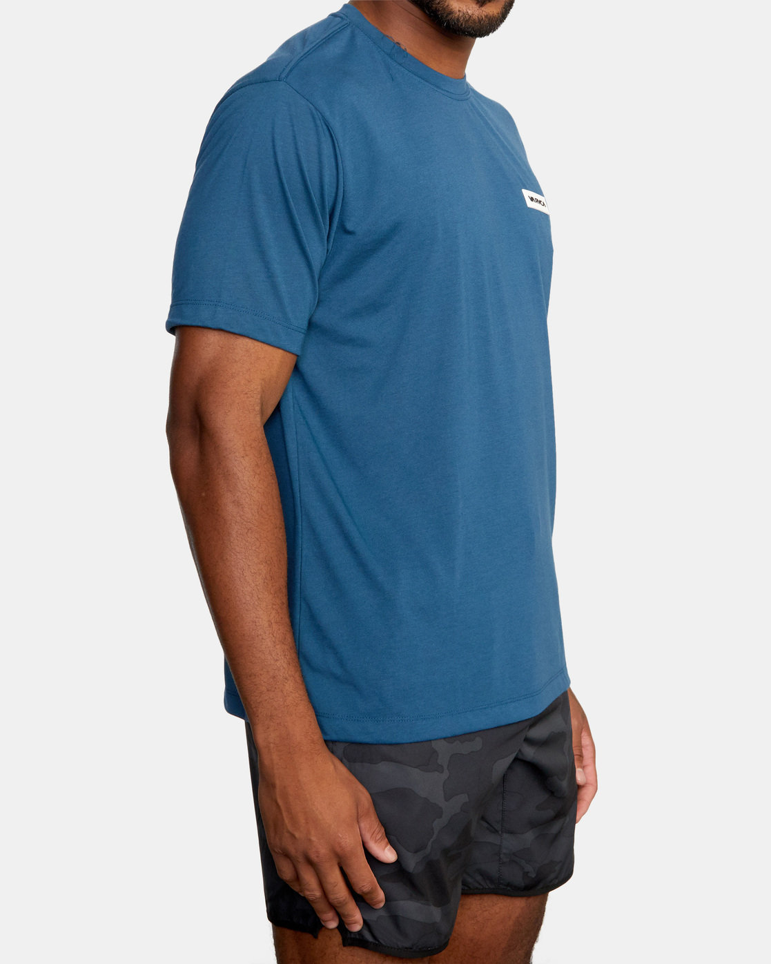 5 ICON SHORT SLEEVE PERFORMANCE TEE Blue AVYZT00184 RVCA