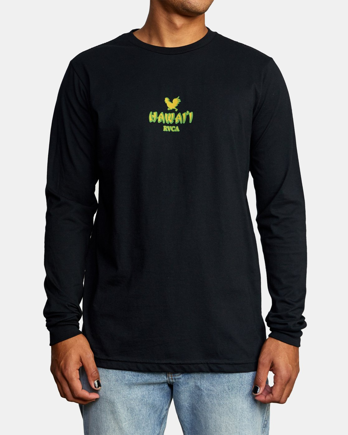 1 STATE OF ALOHA LONG SLEEVE TEE Black AVYZT00190 RVCA