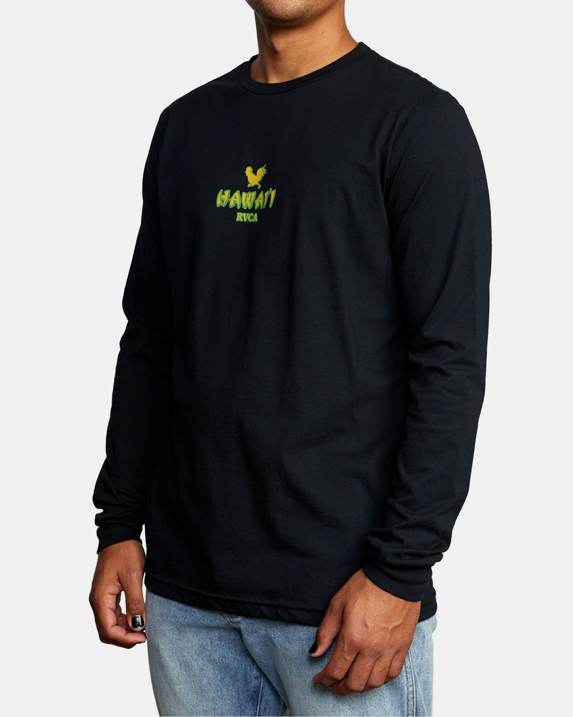 3 STATE OF ALOHA LONG SLEEVE TEE Black AVYZT00190 RVCA