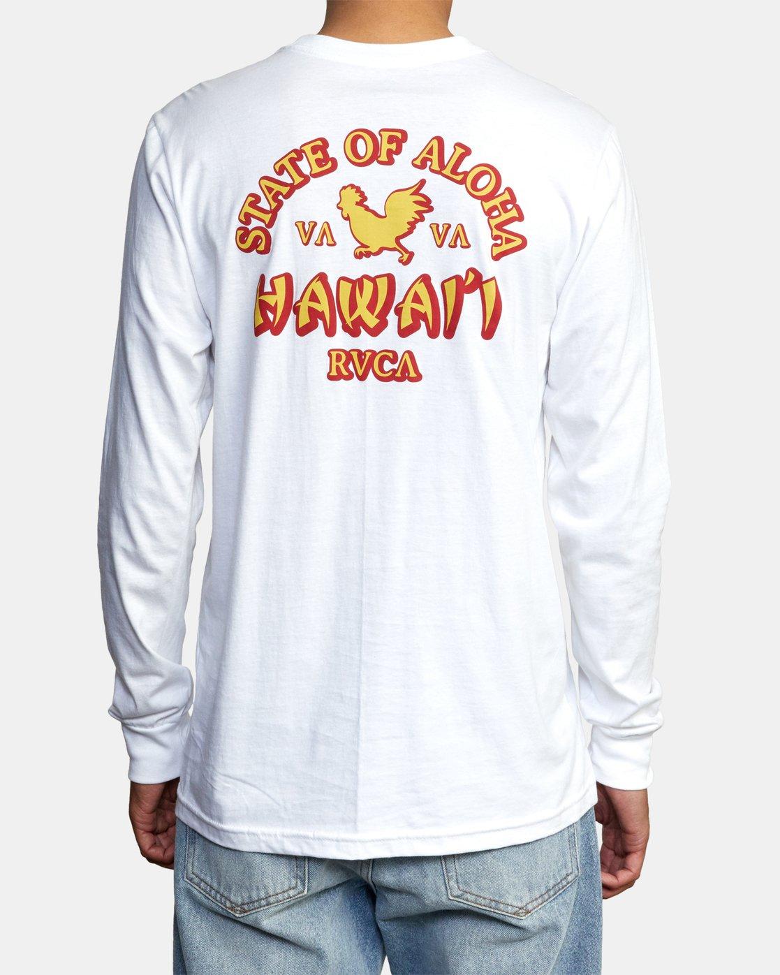 2 STATE OF ALOHA LONG SLEEVE TEE White AVYZT00190 RVCA