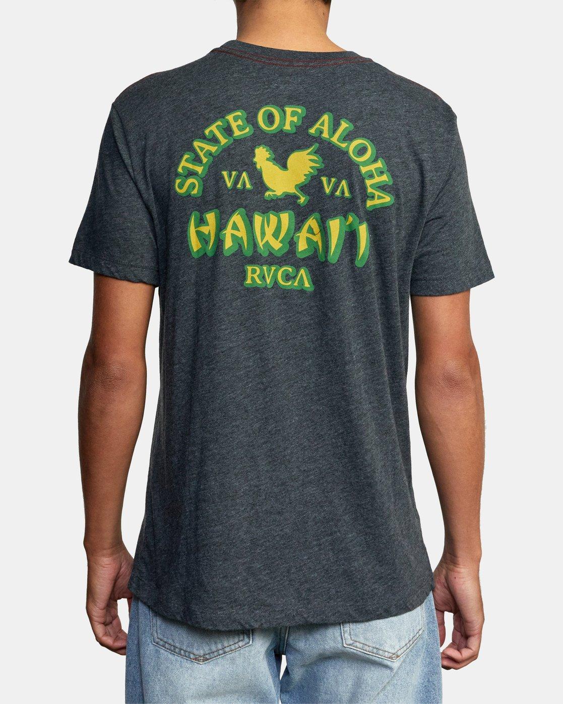 3 STATE OF ALOHA SHORT SLEEVE TEE Black AVYZT00192 RVCA
