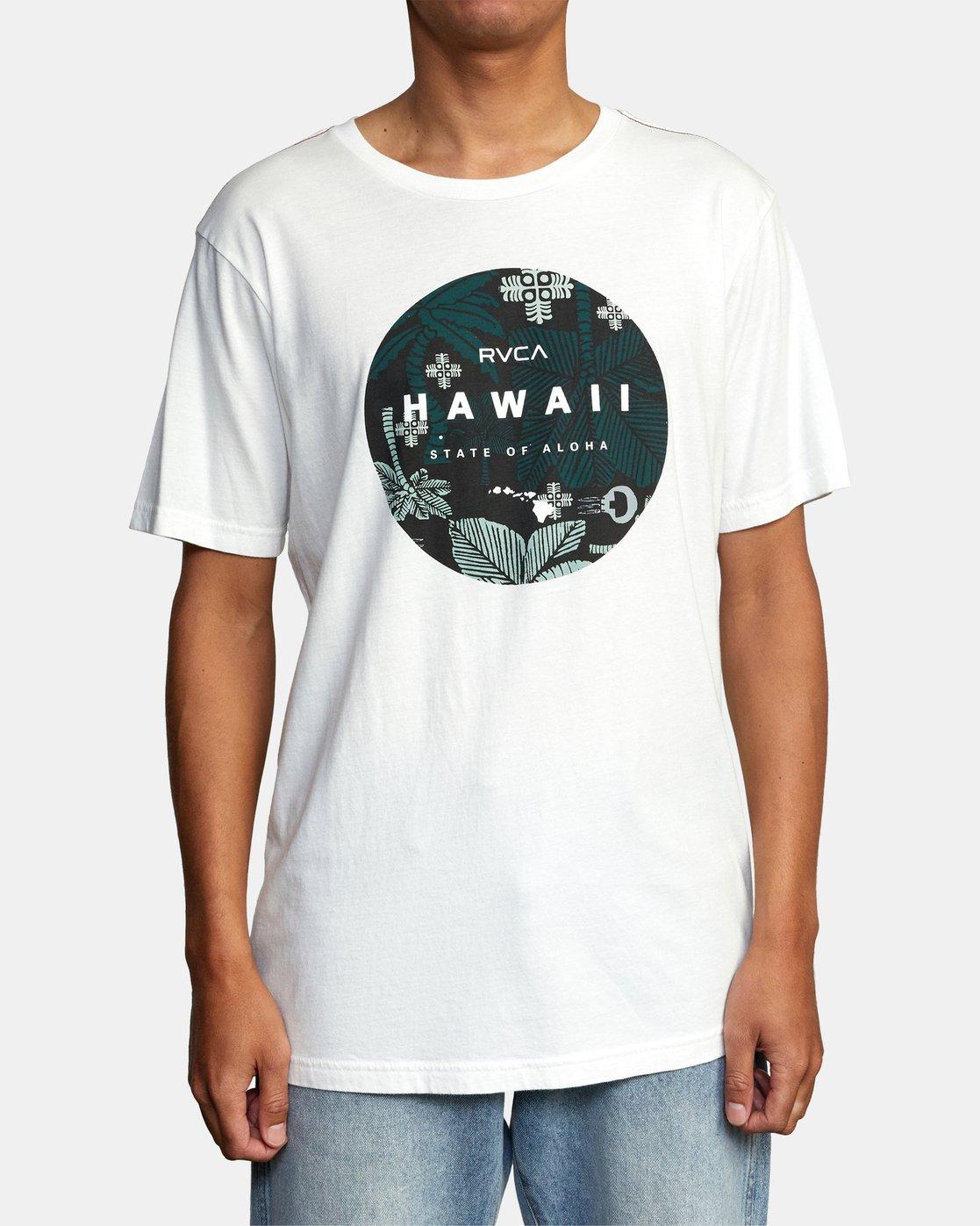 1 HAWAII MOTORS SHORT SLEEVE TEE White AVYZT00193 RVCA