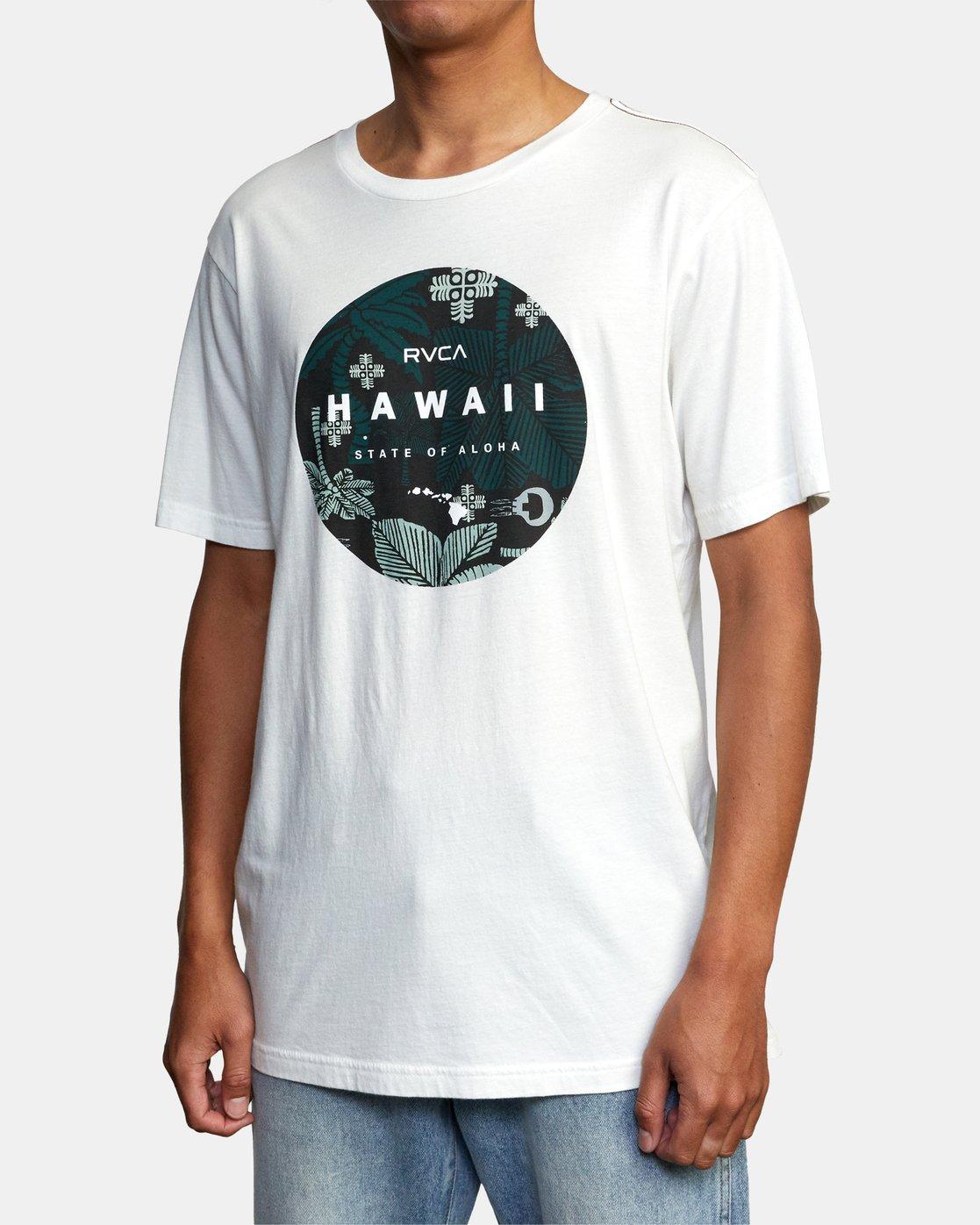 4 HAWAII MOTORS SHORT SLEEVE TEE White AVYZT00193 RVCA
