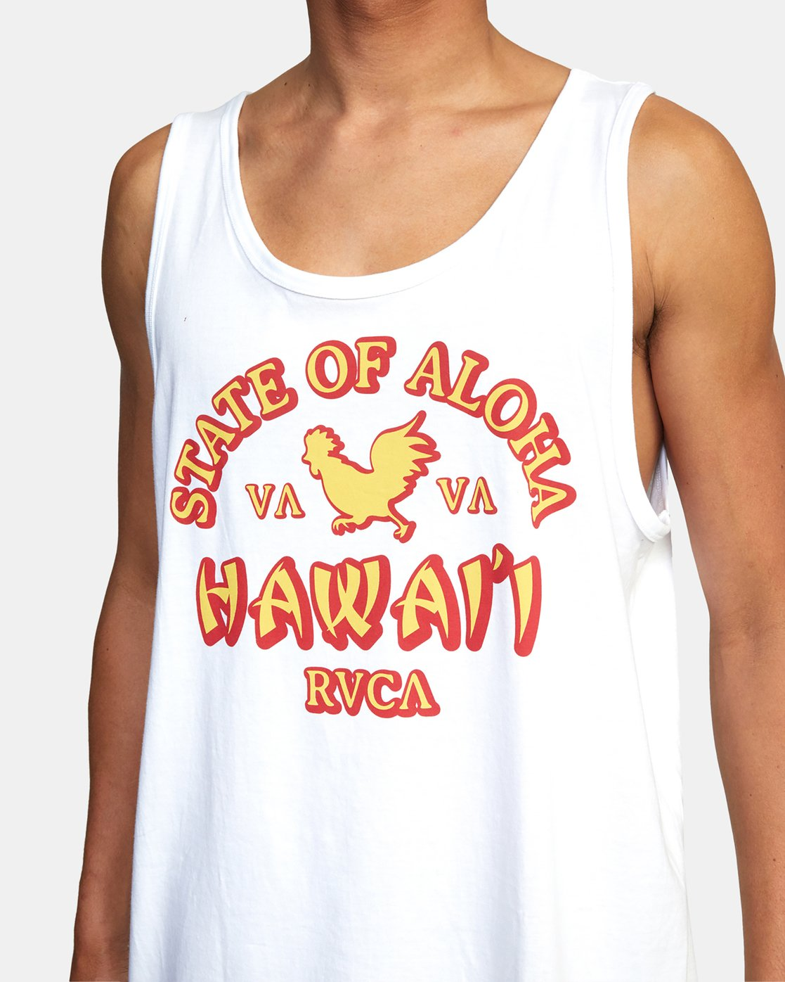 3 STATE OF ALOHA TANK TOP White AVYZT00196 RVCA