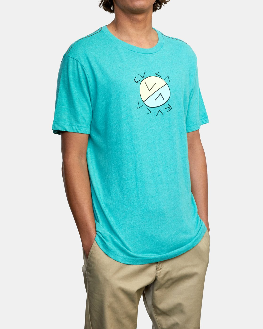 5 CROSSED UP SHORT SLEEVE TEE Blue AVYZT00204 RVCA
