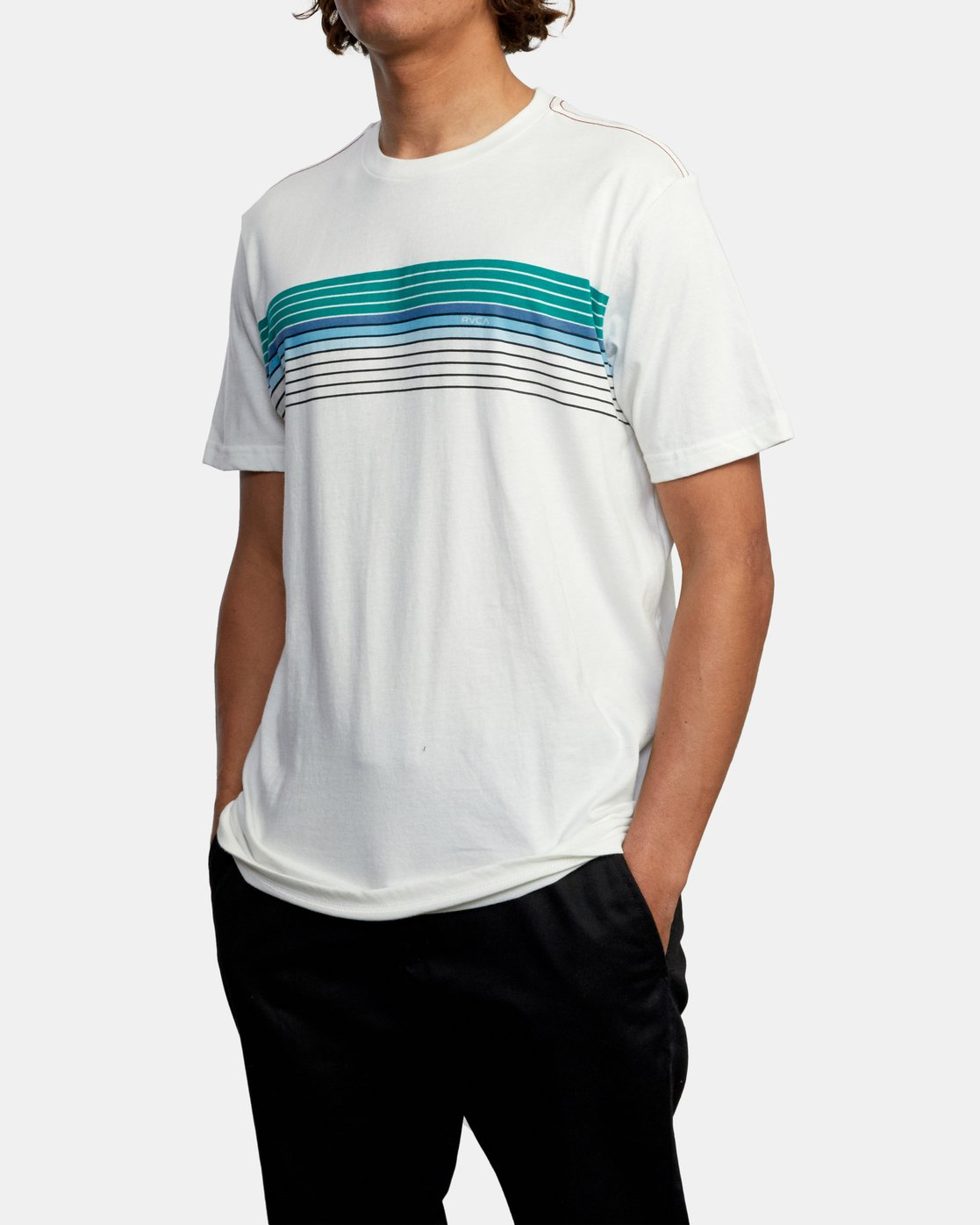 4 STRATE UP SHORT SLEEVE TEE White AVYZT00215 RVCA