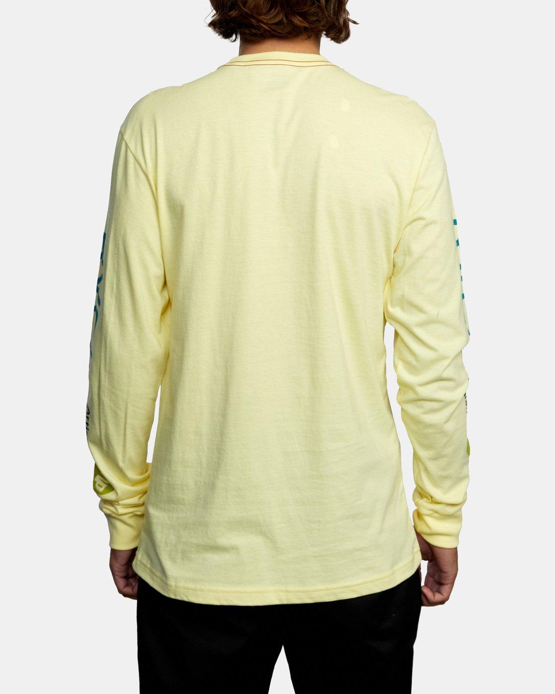 2 ANP LONG SLEEVE TEE Yellow AVYZT00222 RVCA