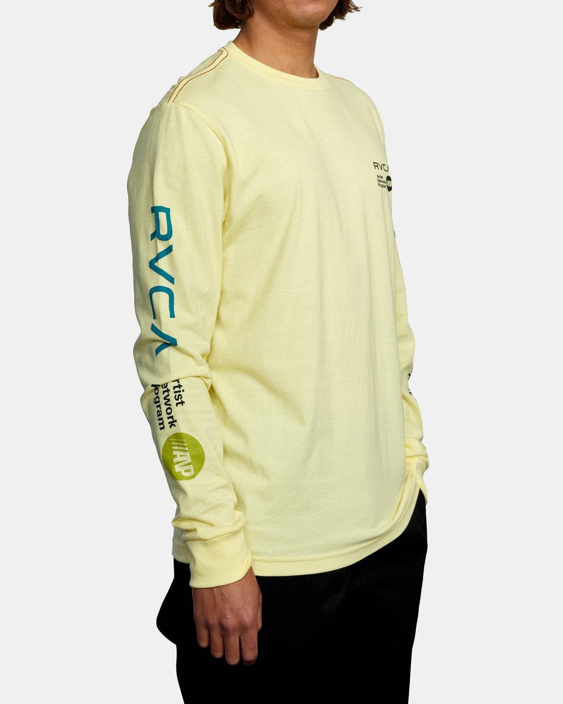 4 ANP LONG SLEEVE TEE Yellow AVYZT00222 RVCA