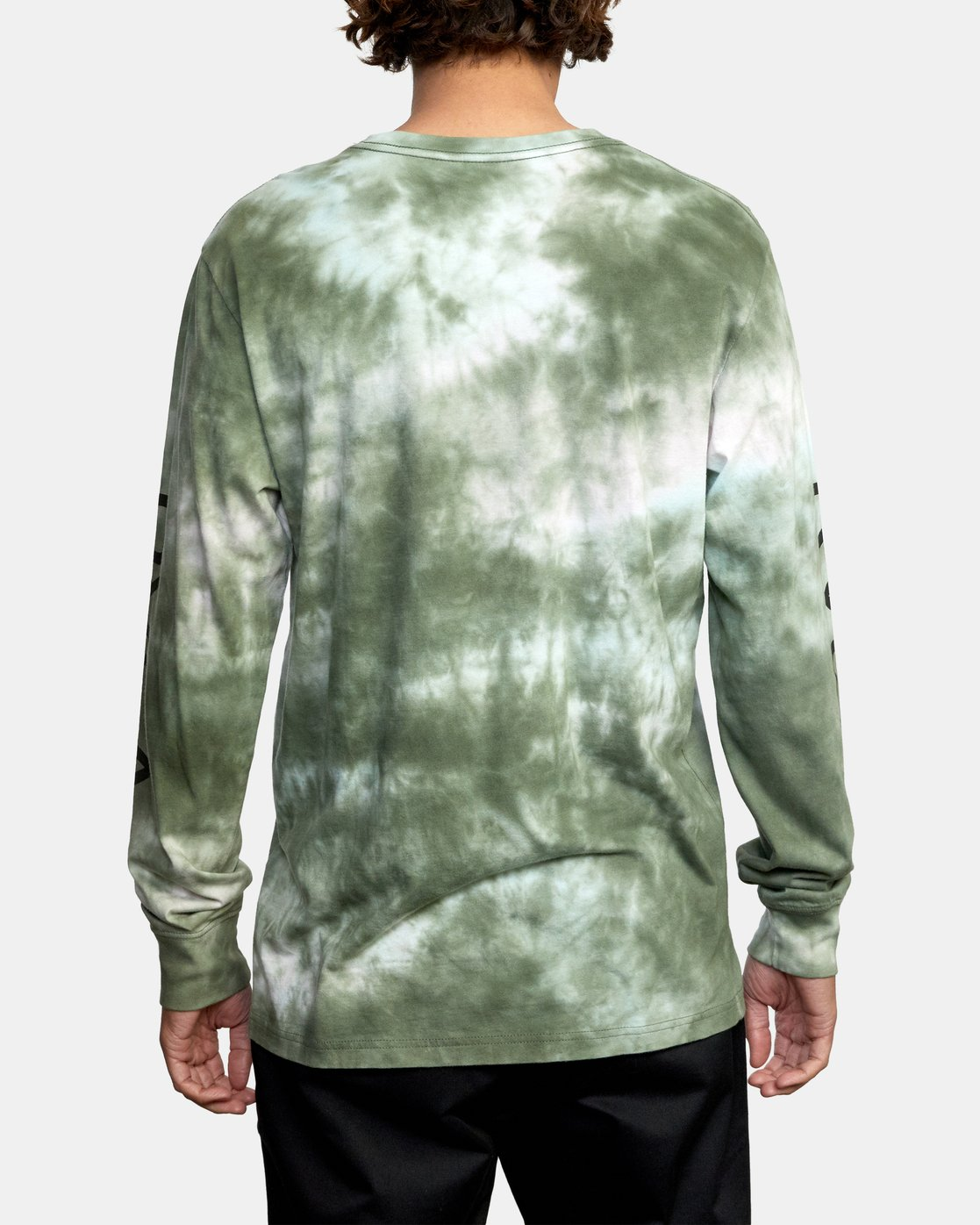 2 BIG RVCA TIE DYE LONG SLEEVE TEE Green AVYZT00223 RVCA