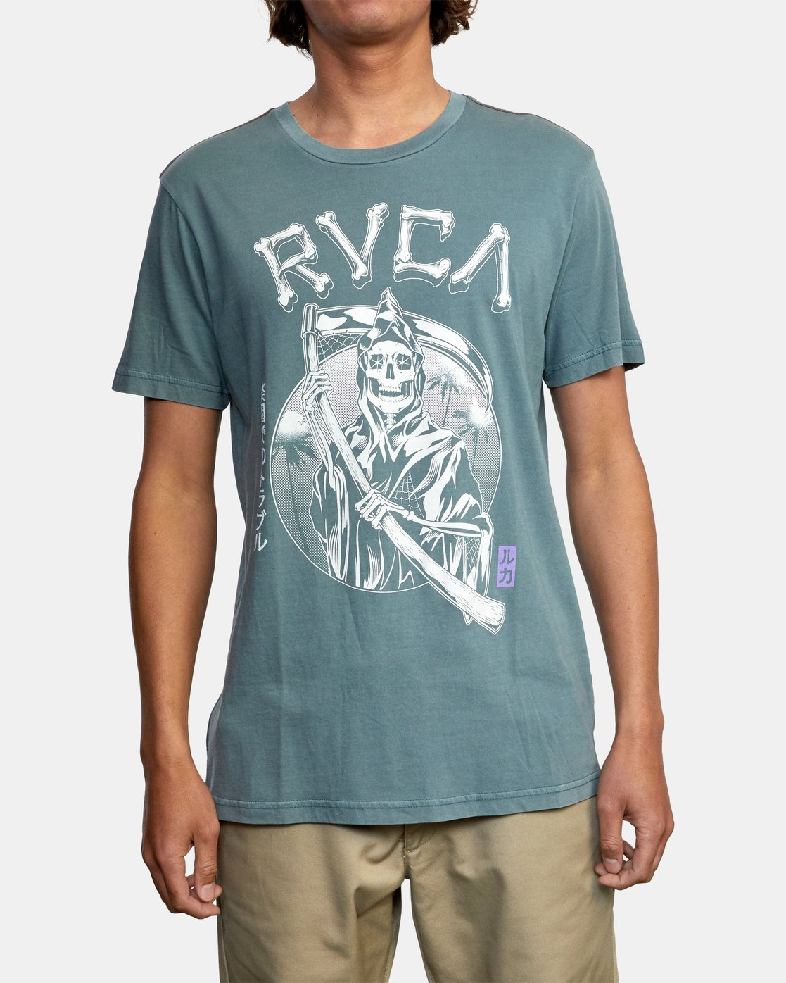 1 TROUBLE IN PARADISE SHORT SLEEVE TEE Purple AVYZT00253 RVCA